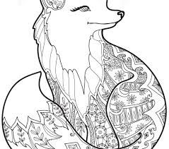 Free Printable Coloring Pages Zentangle Fox Best Adresebitkisel