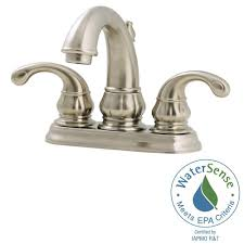 Pfister Faucets Home Depot by Pfister Treviso 4 In Centerset 2 Handle Bathroom Faucet In