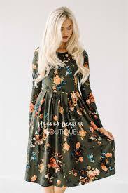olive rust floral pocket modest dress modest dress for nursing