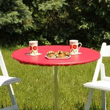 Round Patio Tablecloth With Umbrella Hole by Tavern Checks Fitted Vinyl Tablecloths Round Table Cloths