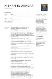 Category Manager Resume Example