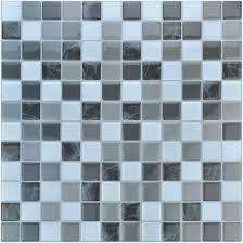 Smart Tiles Mosaik Multi by Kellani Quartz X Glass Mosaic Tile In Aqua Green 75quot Idolza