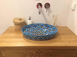 mexikanische waschbecken und fliesen hendbemalte keramik