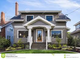 American Craftsman Style Homes Pictures by American Craftsman House Royalty Free Stock Photo Image Blue