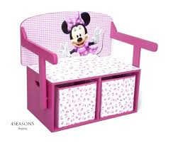 furniture home toy wooden bu minnie mouse storage box desk wooden