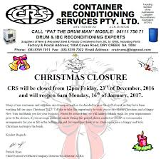 100 Crs Trucking CRS Container Reconditioning Services Pty Ltd CRS Pat The Drum
