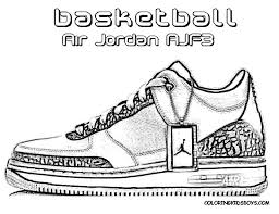 Coloring Pages Of Shoes Jordans Page Free