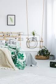 schlafzimmer mit diy schaukel regal poster myloview