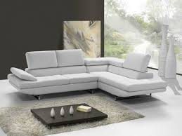canapé d angle en cuir italien 5 places helios blanc mobilier