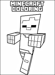 Cool Minecraft Coloring Pages Steve
