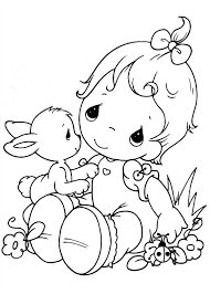 Easy Printable Precious Moments Coloring Pages Procoloring