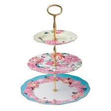 Mixed Accents 3 Tier Cake Stand Miranda Kerr for Royal Albert