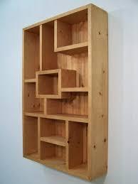 Display Shelves Wall Modern Wood Art Shadowbox Western Decor Shadow Box Case