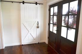 How To Hang Barn Door - Best Home Furniture Ideas Double Sliding Barn Doors Master Bath Entrance With Our Antique Door Hdware How Haing Remodelaholic 35 Diy Rolling Ideas To Build Youtube Bathrooms Design Amazing Bathroom For To Hang The White Stained Wood On Black Rod Next Track Lowes Everbilt How And Hdware For Haing A Sliding Barn Door Fniture External By Elise Blaha Cripe Epbot Make Your Own Cheap Pretty Distressed