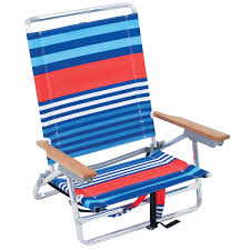 Rio Backpack Beach Chair With Cooler by Rio 5 Position Layflat Backpack Beach Chair Red Blue Stripe