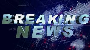 Breaking News 3D Motion Graphics World Map Blue Background 4K