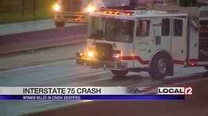 Woman Dies After Car Crashes Into Semi, Catches Fire On I-75 - YouTube Ocala Post Fatal Crash On I75 Leaves Two Dead And One Critically In Lexington Reopens After Semi Sthbound I94 Ramps Reopen Allday Closure Crains Car Loses Control Hits Rolls Over Detroit Youtube Tanker Semi Truck Overturns Causing Hwy 75 Traffic To Be Detoured Update I70 Henry County Fatal Local News Accident South Ga 2018 Deadly Mcminn Wtvc One Injured Accident Tiftongazettecom Michigan On I44 Best Florida Highway Patrol Crash Log