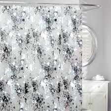 Bed Bath And Beyond Curtain Rod Rings by Buy Black And White Fabric Shower Curtains From Bed Bath U0026 Beyond