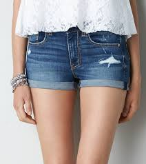 emily and denim are a perfect match love these denim shorts