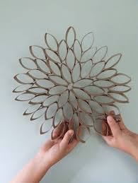 Make Your Own Flower Wall Deco All You Need Is Toilet Paper Rolls