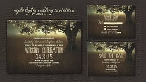 Tree Lights Night Wedding Invitation