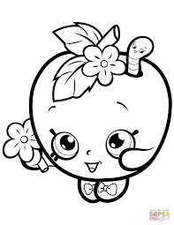 Coloring Download Apple Blossom Page Shopkin Free Printable Pages