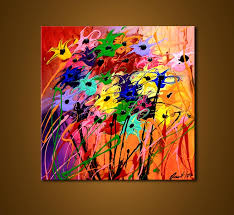 Paintings For Simple Abstract Flower