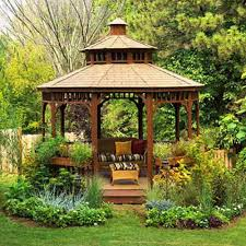 Backyard Gazebos - Here's A Three Tiered Round Backyar... Outdoor Affordable Way To Upgrade Your Gazebo With Fantastic 9x9 Pergola Sears Gazebos Gorgeous For Shadetastic Living By Garden Arc Lighting Fixtures Bistrodre Porch And Glamorous For Backyard Design Ideas Pergola 11 Wonderful Deck Designs The Home Japanese Style Pretty Canopies Image Of At Concept Gallery Woven Wicker Chronicles Of Patio Landscaping Nice Best 25 Plans Ideas On Pinterest Diy Gazebo Vinyl Wood Billys