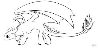 Night Fury Dragon Coloring Page