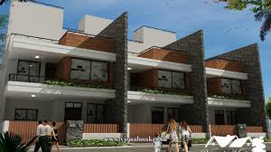 100 Row Houses Architecture House Elevation Design Indore Visual Maker