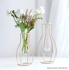 modernes design blume vase mit glas rohr wohnzimmer dekoration