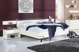 hülsta fena bett in weiß mit geradem kopfteil möbel letz