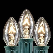 c7 clear 5 watt candelabra base lights 25 pack