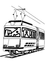 Tramway 2 Transport Coloriages à Imprimer