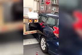 100 Truck Driver Jokes 18wheeler Shreds Parked Car In Queens While Attempting Turn