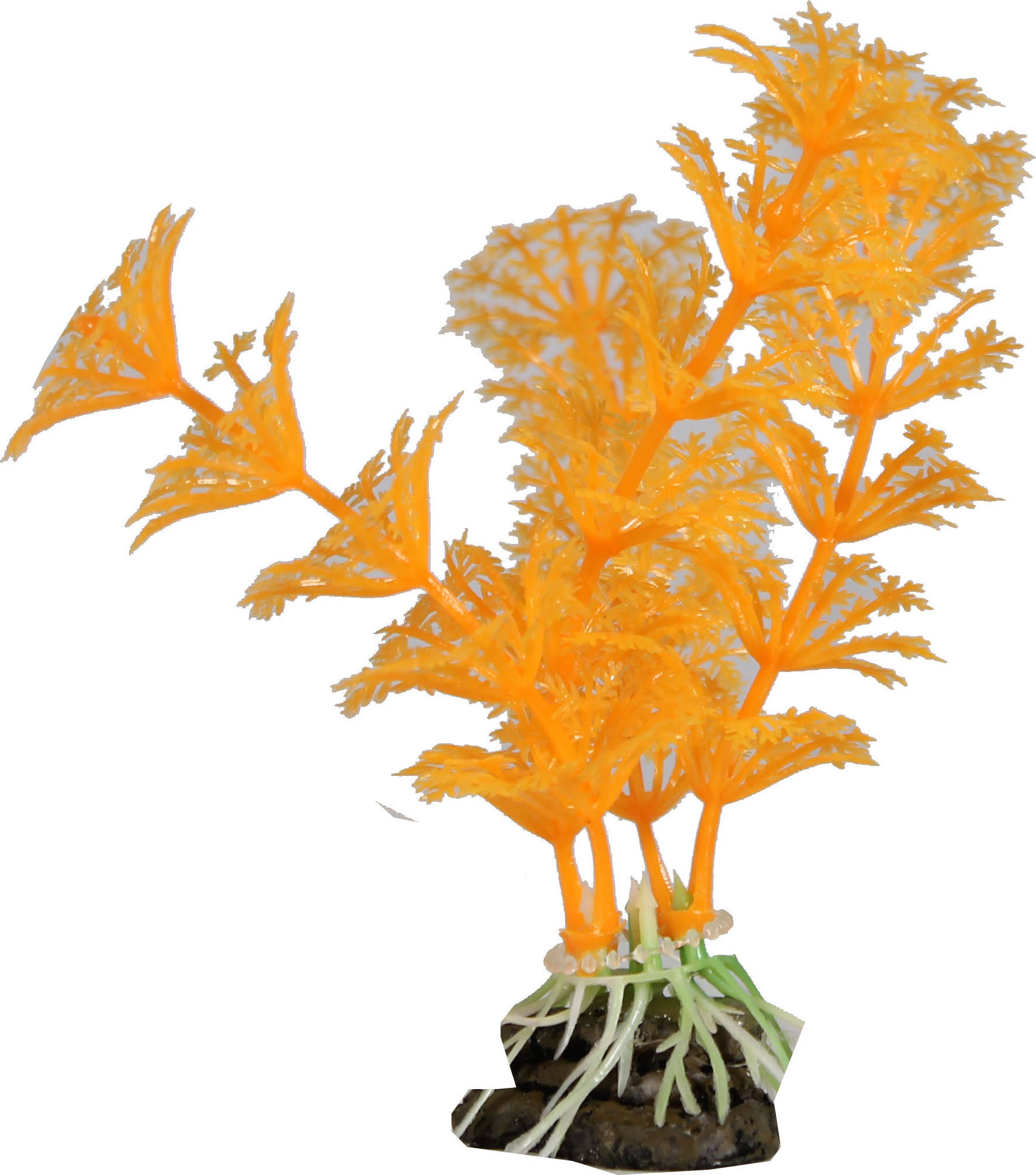 Elive Glow Elements Cabomba Plant Ornament (Neon Tangerine 4 inch)