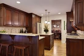 Kitchens With Dark Cabinets And Light Countertops by Dark Cabinets Light Granite Kitchen Traditional With Dark Stained