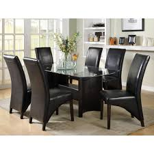 5 Piece Dining Room Sets Cheap by Piece Beveled Glass Top Dining Set Espresso Dining Table Sets At