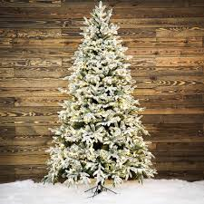 Ge Artificial Christmas Trees by Shop Ge 7 5 Ft Pre Lit Alaskan Fir Flocked Artificial Christmas