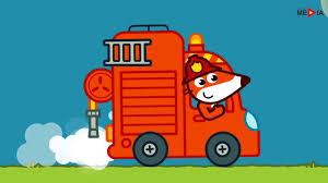 Fire Truck, Firefighter Cartoon For Kids, Toddler Fire Truck Videos ...