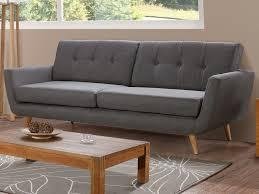 canapes gris canapé design 3 places en tissu karl coloris gris