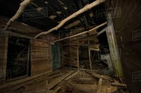 100 House In Forest Abandoned Wooden House In Forest At Night Stock Photo