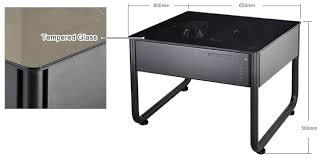 lian li dk q1hx aluminium pc desk case no psu black techbuy