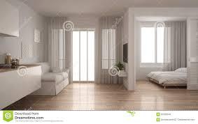 kleine wohnung mit küche wohnzimmer und schlafzimmer weiße