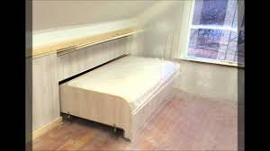 To Finish Another Area Of The Upstairs Remodel I Added Some Paneling End Board Hidden Pull Out Knee Wall Bed