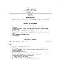 Resume For Restaurant Hostess