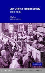 Law Crime And English Society 1660 1830
