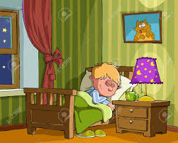 the boy sleeps in the bedroom royalty free cliparts vectors and