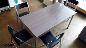 Echo Small Square Table Doubles In Size To Seat 8