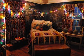 Decorations Impressing Christmas Teen Bedroom Decor Featuring Colorful Lights Wire Arrangement Across And Star